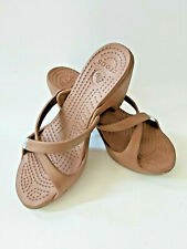 Crocs Womens Brown Slides Sandals Heels Sz US 9