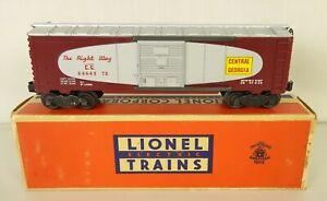 """LIONEL #6464-375 EARLY """"CENTRAL OF GEORGIA"""" UN-RUN BOX CAR-MINT IN ORIG. BOX!"""