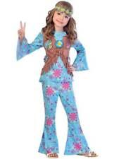 Child Flower Power Hippie Girls Fancy Dress Hippy 1960s 1970s Kids Disco Costume