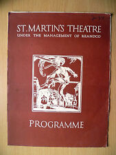 ST. MARTIN'S THEATRE PROGRAMME 1934- THE WIND AND THE RAIN by Merton Hodge