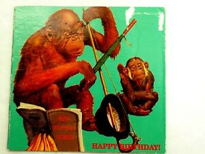 1991 Don't Go Ape! Happy Birthday Lifetime Greeting Card with .999 Silver coin