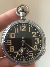 Antique Military Pocket Watch.  WW2 WWII Era Vintage