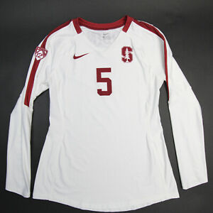Stanford Cardinal Nike Game Jersey - Volleyball Women's White/Maroon Used