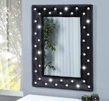Espejo de pared espejo negro con pedrería 80 x 60cm Chic specchiera Brillante