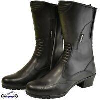 Oxford Savannah Ladies Waterproof Casual Reinforced Motorcycle Boots Leather