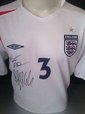 Signed Ashley Cole Retro England Shirt
