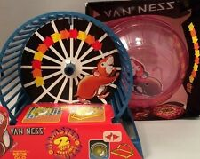 Van Ness Hamster Small Animal Exercise Floor Ball & 2 Way Wheel Lot Of 2