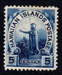 1899 Hawaii #82  MH Unused 5 cents Blue Hawaiian Islands