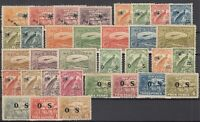D2998/ AUSTRALIAN NEW GUINEA – 1925 / 1939 MINT SEMI MODERN LOT – CV 375 $