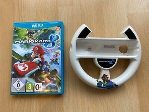 Mario Kart 8 Nintendo Wii U Game + controller wheel UK PAL