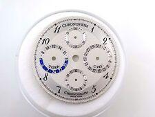 Original Schweizer NOS 33 mm Chronoswiss Tora C.743 Chronograph Armbanduhr Zifferblatt Teil