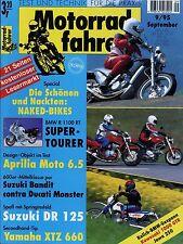 Motorradfahrer 1995 9/95 Ducati Monster 600 Bandit Jawa 250 Master Aprilia Moto