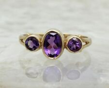 Christmas Natural Oval Three-Stone Fine Rings