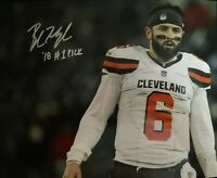 Baker Mayfield 8x10 Signed Autograph Cleveland BROWNS Oklahoma Sooners REPRINT ,