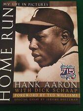 Hank Aaron Signed Autographed HOME RUN Book JSA COA