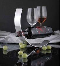 WAVE SCULTURA DESIGN IN METALLO 1 bottiglia di vino Rack stabile robusto piano di lavoro di archiviazione