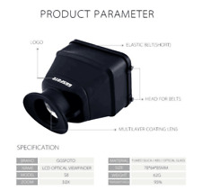 """GGS S8 Camera Viewfinder fit 3-3.2"""" LCD for Canon Nikon Sony Fujifilm OLYMPUS"""
