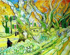"Van Gogh Replica Oil Painting - The Road Menders - size 48""x36"""