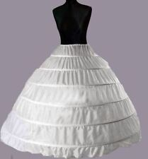 6 Layers White Bridal Wedding Skirt Dress Petticoat Underskirt Crinoline S-XL UK