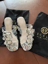 Cecelia New York London Slides - Snakeskin - Size 9