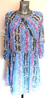 Ladies M&S Limited Collection Size 18 Viscose Dress Long Sleeve Bnwt