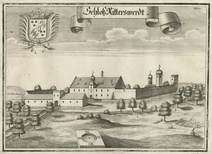 Geisenfeld/Ritterswörth (Hallertau).- Kupferstich/Wening, um 1750