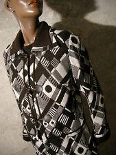 CHIC VINTAGE ENSEMBLE ROBE & VESTE 1960 VTG DRESS JACKET 60s MOD TWIGGY (40/42)