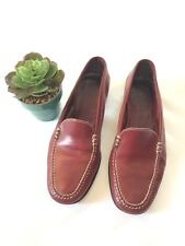 Emling Women's Driving Loafers SlipOn Shoes Size 6 Dark Red Made In Paris