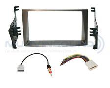 Radio Stereo Installation Dash Kit Combo DD SILVER + Wire Harness + Antenna SU18