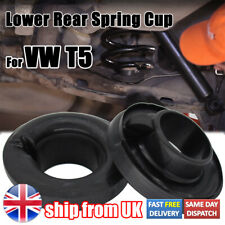 UK Uprated Rear Lower Rubber Spring Seat Cup Mount Caravelle For VW T5 T6 2pcs
