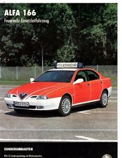 Alfa Romeo 166 Feuerwehr Vigili del Fuoco Fire Brigade Depliant Brochure 2 Page