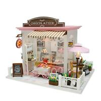 DIY Model Wooden Miniature Doll House Furniture Building Blocks Gift Toys