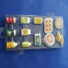 Dollhouse Kitchen Food 1:12 Miniature Juice Milk Drinks Set for Barbie Dolls
