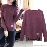 Winter Womens Pullover Loose Korean Ladies Knit Sweater Jumper Shirt Blouse Tops