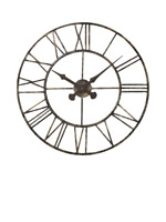 Lascelles Analogue Skeleton Roman Numeral Outdoor Wall Clock, 70cm