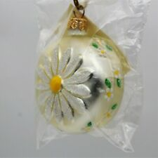 Patricia Breen Christmas Ornament Daisy Medallion 9899 Pearl Signed Dated 1998