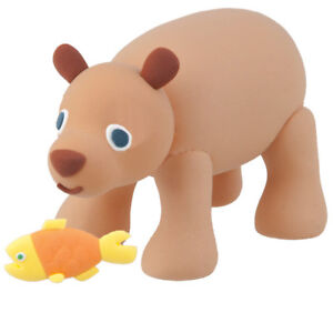 The Very Hungry Caterpillar Super Dough Model Kit Brown Bear with Fish