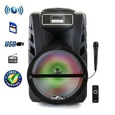 beFree Sound 12 Inch Bluetooth Rechargeable Portable PA Party Speaker.