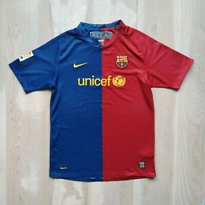 Barcelona Barca Jersey Home football shirt 2008 - 2009 Nike 286805-655 Young XL