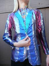 RARE ZODIAC VINTAGE RAINBOW GLAM 70S METALLIC JACKET M UNISEX SEXY COUTURE ZIGGY