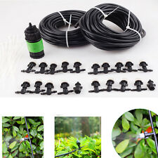 20M 66ft Outdoor Garden Patio Misting Cooling System with 20 Plastic Mist Nozzle