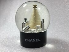Used Auth CHANEL CC Logos Snow Globe Dome Object Glass White Black Novelty F/S