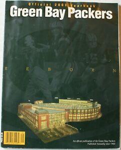 2003 Green Bay Packers Yearbook Brett Favre Driver Gbaja-Biamila