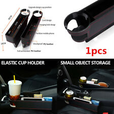 1Pcs Car Seat Co-driver Side Catcher Gap Filler Storage Box Cup Holder Organizer