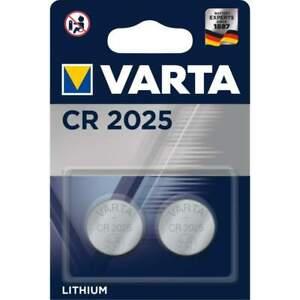 2 Piles CR2025 Varta Bouton Lithium 3V