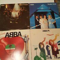 Lot Of 4  ABBA - Super Trouper / The Album / Voulez-Vous / I Love Abba