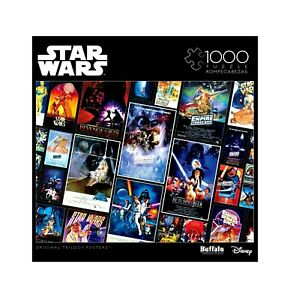 Star Wars 1000 Piece Jigsaw Puzzle Buffalo, Collage Original Trilogy Posters NEW