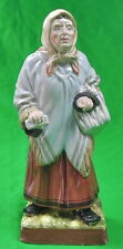 Antique Old Imperial Russian Russia GARDNER Porcelain Ceramic Old Woman Figurine