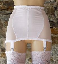 Style vintage power mesh 6 sangle ceinture blanc toutes les tailles