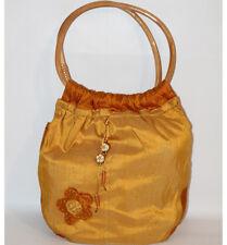 Borsa Thun tessuto originale giallo e arancio spalla donna